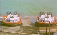 AP1-88 Hovercrafts at the Hovertravel Terminal, Ryde