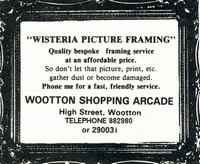 Picture framers in Bumbles Arcade 1989 now Wisteria