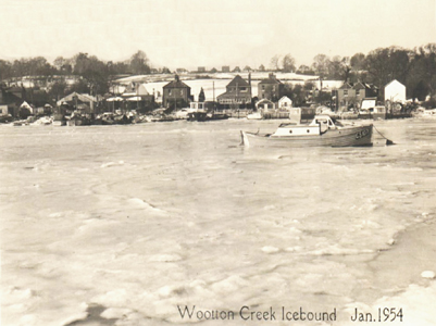 Fig 3: Wootton Creek Icebound Jan 1954