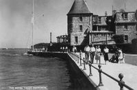 Royal Yacht Squadron jetty c1960