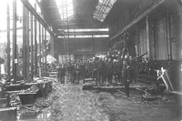 Fire at J.S.White's shipyard 1911