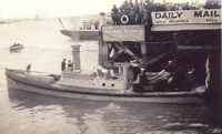 Launch of HMS Barham motor-launch