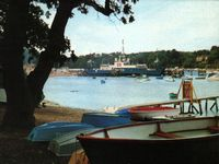 Sealink car ferry at terminal circa 1970