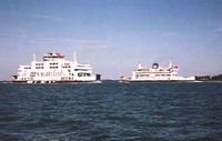St Clare and St Catherine enroute 2005