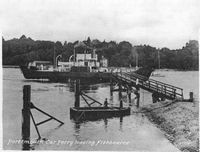 Ferry leaving Fishbourne 1950s