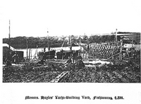 Boat building at Fishbourne
