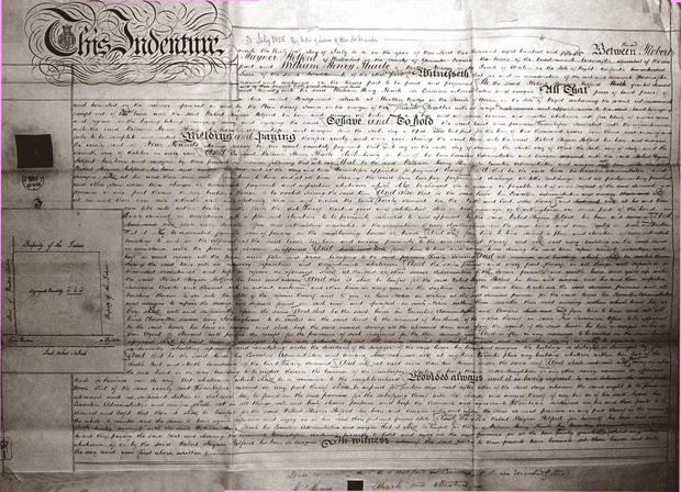 Picture of the lease of 1855