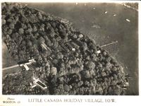 Aerial picture of Little Canada circa 1950