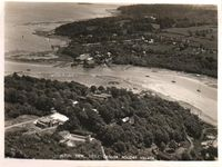 Aerial view of Little Canada and Fishbourne circa 1950