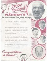Warners Brochure circa 1960