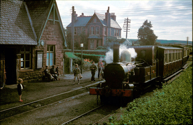 Picture of Kirkmichaael Railway Station in 1961. Maisie's house is in the background
