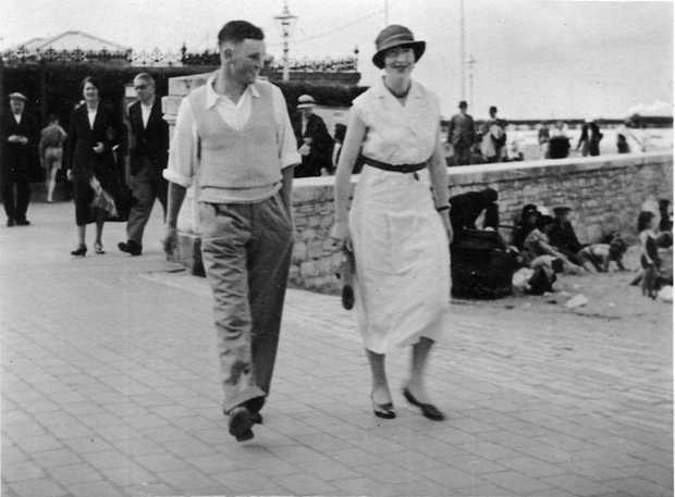 Picture of Maisie and gentleman friend prior to WW2