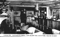 Interior of the Sloop Inn circa 1950