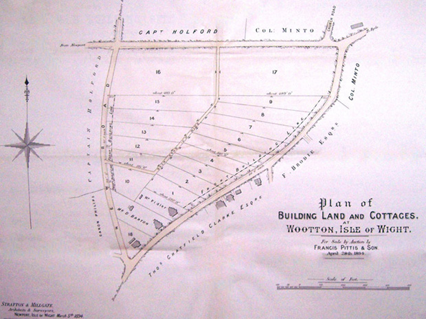 Map of plots offered for sale
