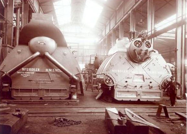 Picture of Production of White Forster Boilers