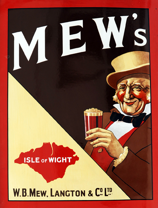 Picture of Advertising Enamel Sign Mew's - Isle Of Wight