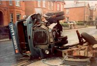Accident outside Bumbles circa 1983 [R Stacey]