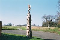 Tree carving at Fernhill Park