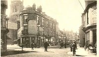 Looking up High Street from Guildhall circa 1910