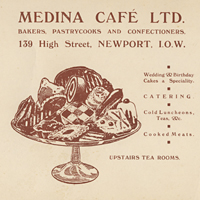 Medina Café, 139 High Street 1934, found in an old picture as backing card