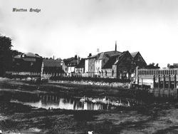 The millpond and sluice gate circa 1910
