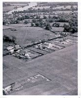 Aerial view of Church Road (Cedards) 1954