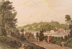 View from Kite Hill towards the Sloop Inn and Fernhill House circ 1830