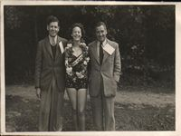 Dr. Kennedy (left) at Little Canada Holiday Camp 1950s