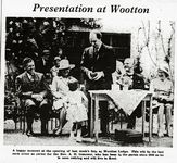 Rev. A H Genower at Wootton Lodge 1968 [IWCP]