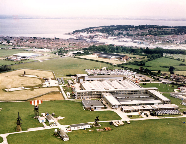Picture of Aerial view of the site looking northwards, Cowes in the background c 1980