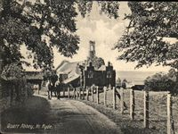 Quarr Abbey House and farm workers circa 1924