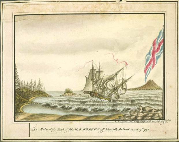 Picture of HMS Sirius 1790