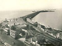 Ryde, Bus Station and Pier, c1975