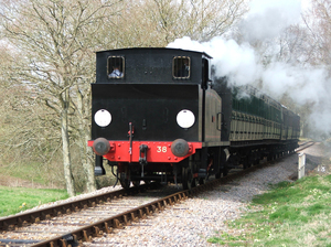 Picture of train on steam railway