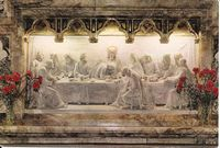 Reredos depicting Last Supper