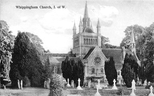 Picture of Whippingham church and graveyard c1910-11