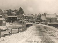 Snow 1954, looking towards Kite Hill