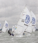 Laser SB3s enjoy the West wind by Peter Mumford