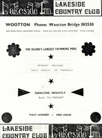 Lakeside Country Club Wootton 1974