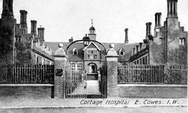 Picture of Frank James Hospital in 1905