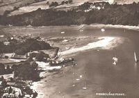 Aerial view the Creek and Fishbourne ferry terminal 1950