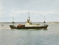 M.V. Fishbourne approaching Portsmouth circa 1970
