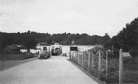 Approaching Fishbourne Car ferry circa 1948