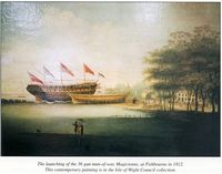 Launch of the Magicienne at Fishbourne 1812