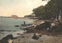 The beach at Fishbourne circa 1920