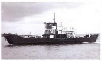 British Rail ferry enroute to Fishbourne 1930s
