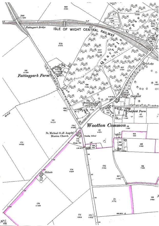 Map of Wootton Common 1905