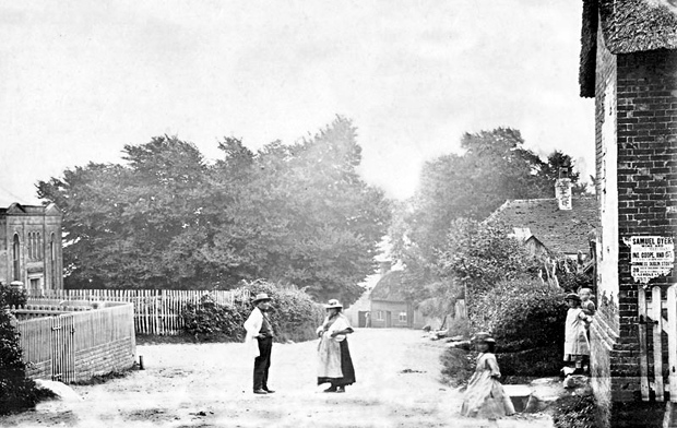 Picture of Wootton Bridge High Street from 1865
