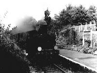 Arriving Wootton Station circa 1950