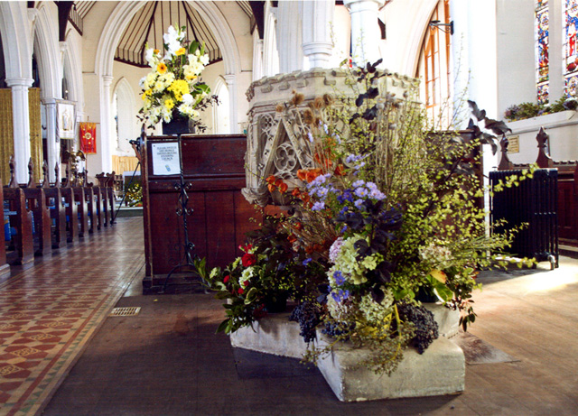 Font at Holy Trinity Church Ryde